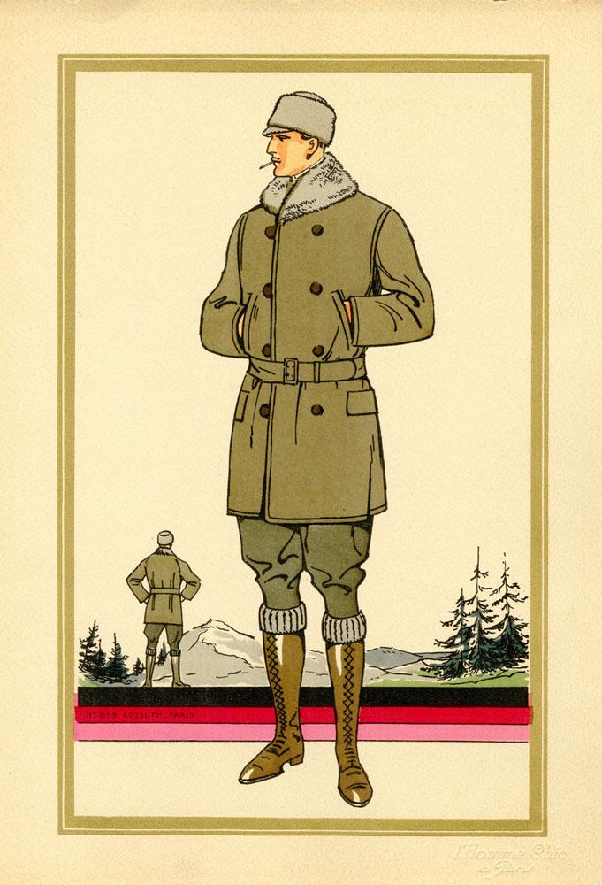 Antique 1920s men's fashion illustrations 5