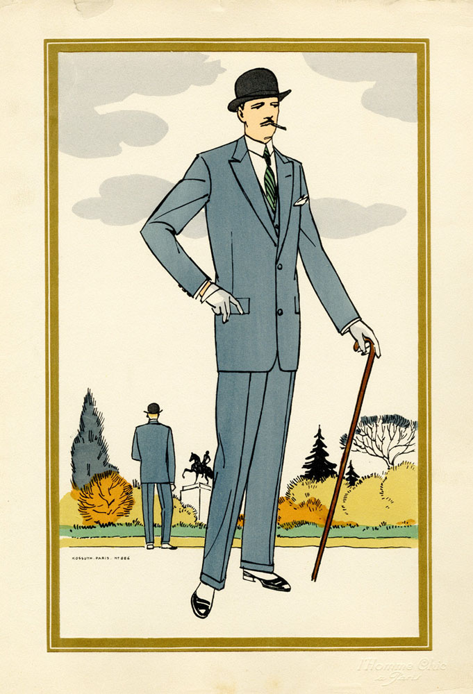Antique 1920s men's fashion illustrations 6
