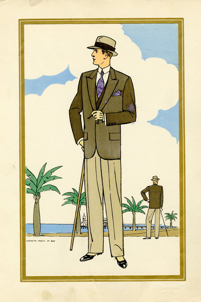 Antique 1920s men's fashion illustrations 7