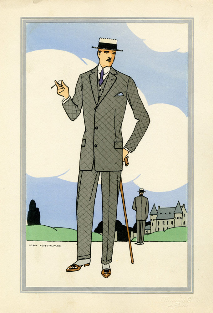 Antique 1920s men's fashion illustrations 8