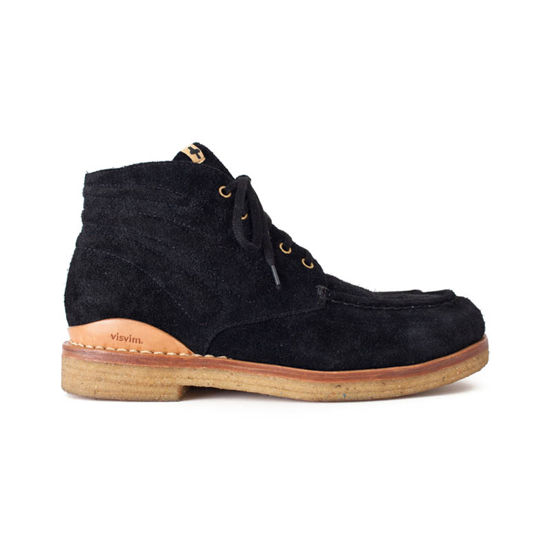 Black moc boots visvim comanche