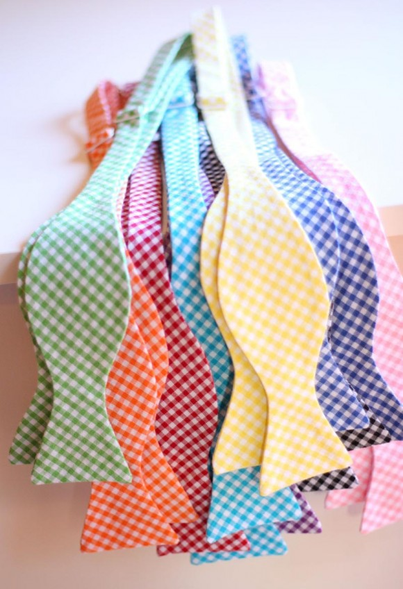 Colorful Gingham Bow Ties 1