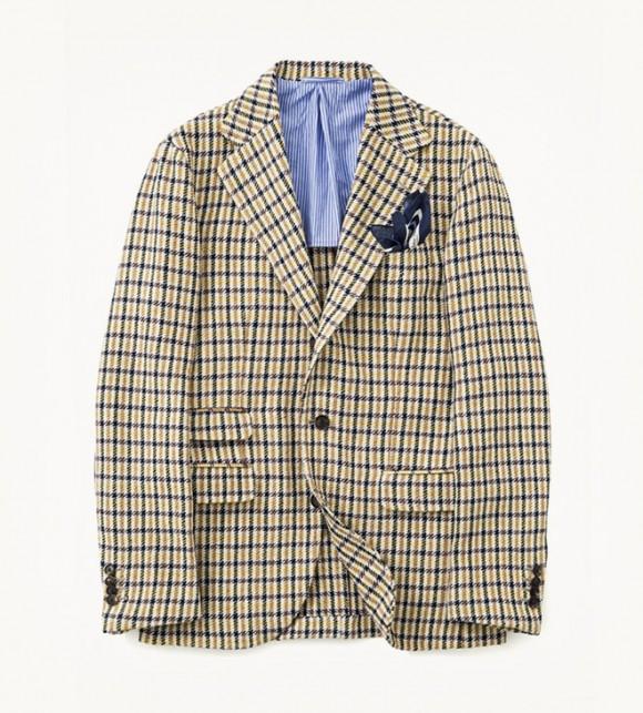 Cotton plaid jacket, Salvatore Piccolo