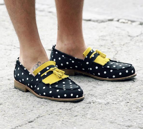 Dapper Report vol. 7 42 polka dot loafers