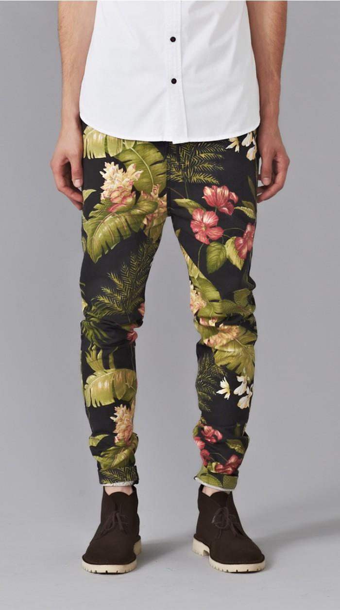 Dapper Report Vol.7 5 leaf print pants