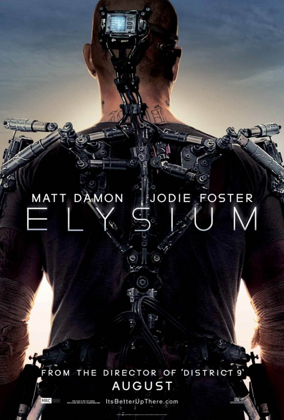 Director of District 9 Elysium Matt Damon Jodie Foster poster