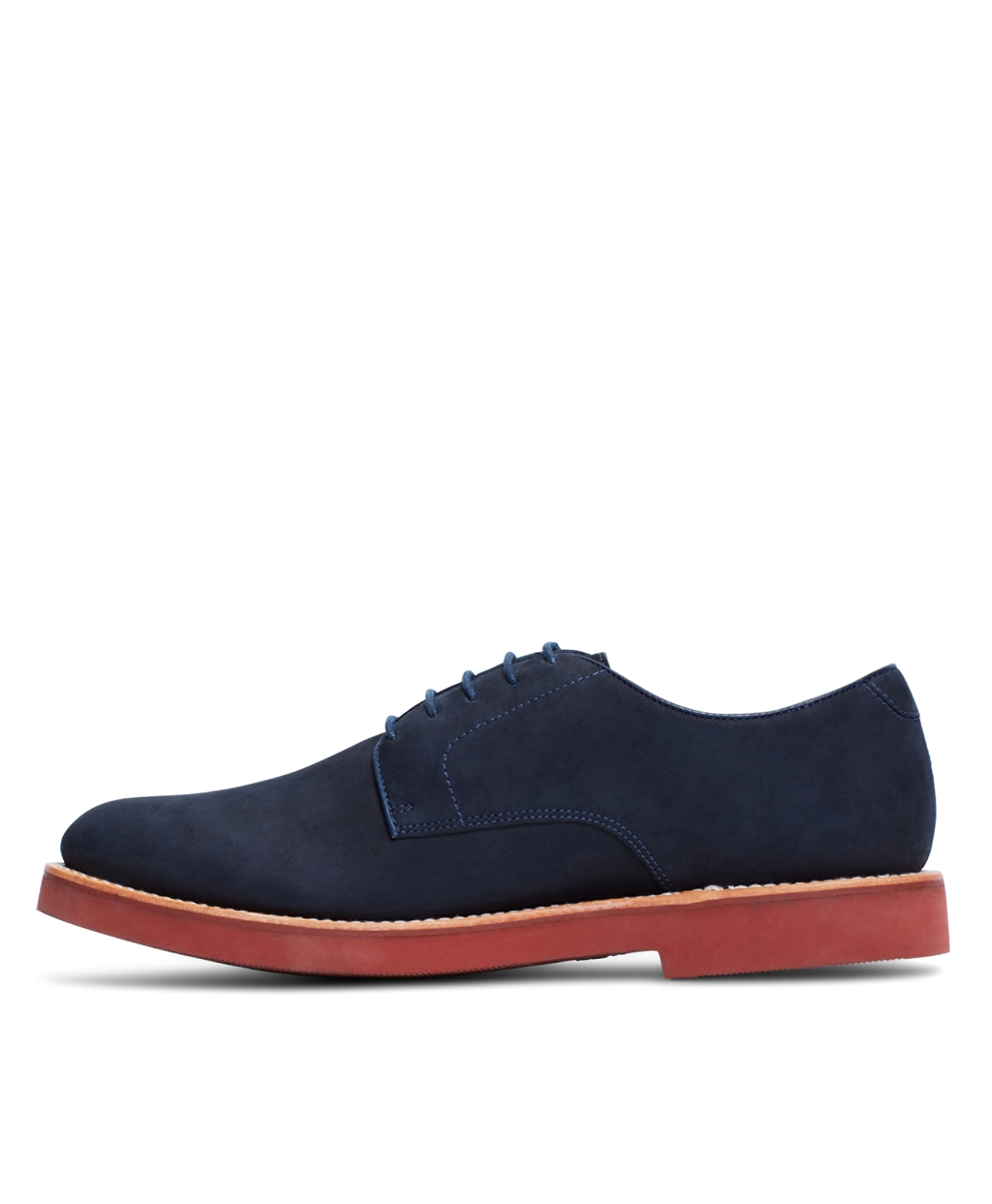 navy nubuck red sole lace up
