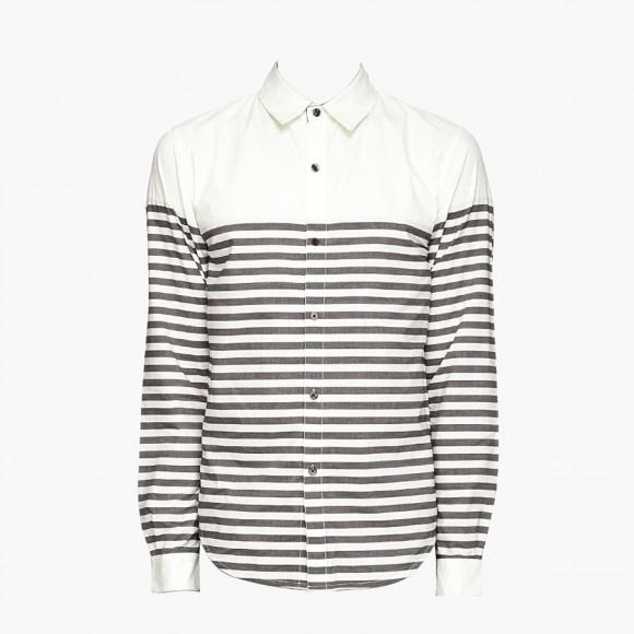 Pastel green stripe white dress shirt adidas originals x opening ceremony