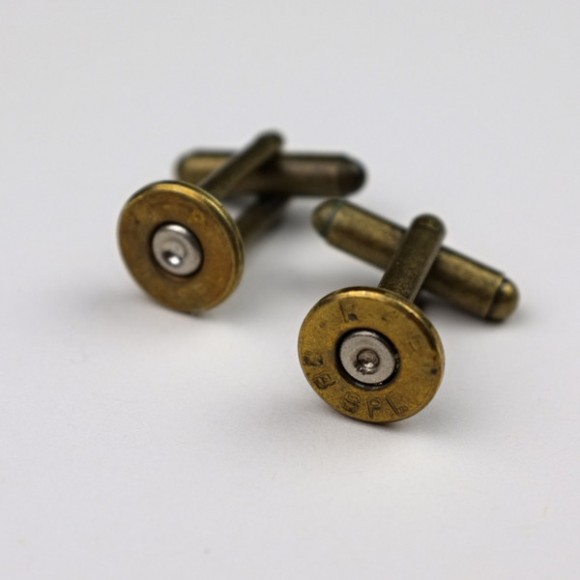 Recycled 38mm Bullet Cufflinks