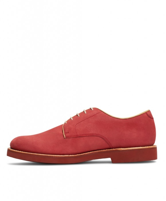 red on red nubuck shoes