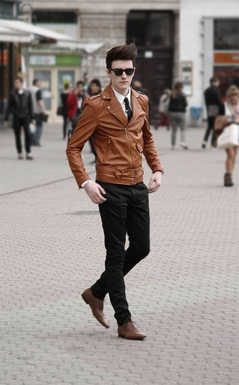 Refined Look Brown Leather Jacket Soletopia