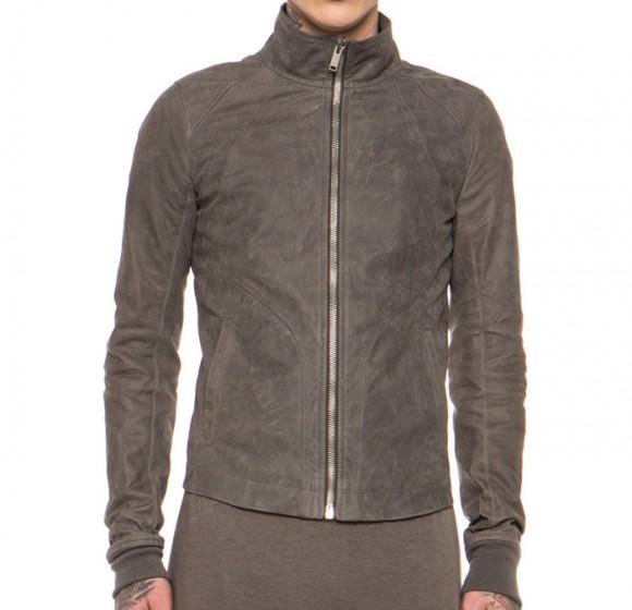 Rick Owens calfskin leather jacket 1