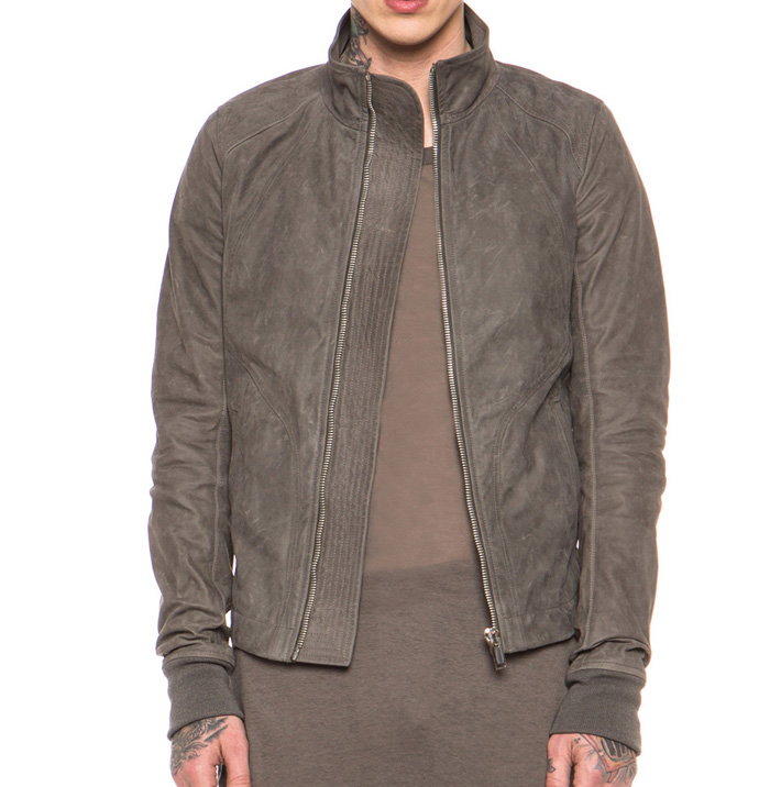 Rick Owens calfskin leather jacket 2