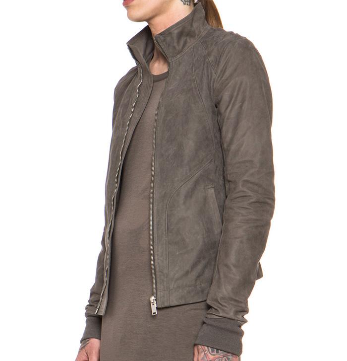 Rick Owens calfskin leather jacket 3