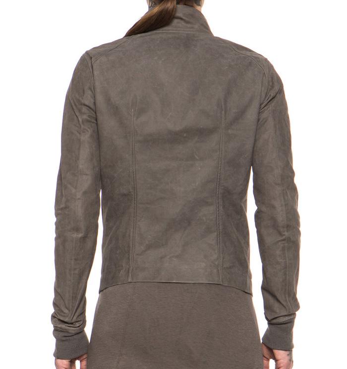 Rick Owens calfskin leather jacket 4
