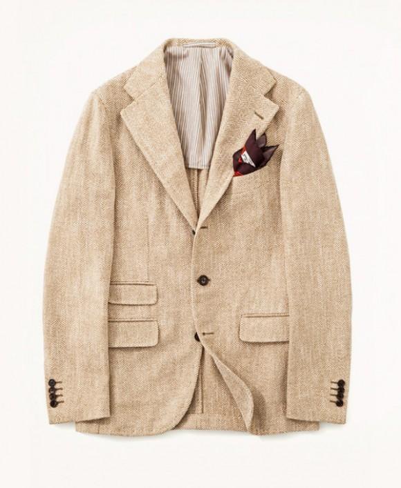 Salvatore Piccolo Beige Herringbone Jacket