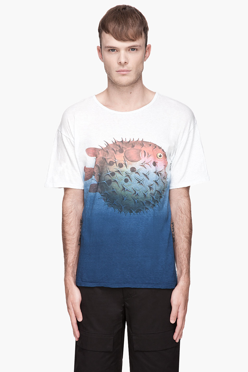 SASQUATCHfabrix blue ombre balloonfish t-shirt