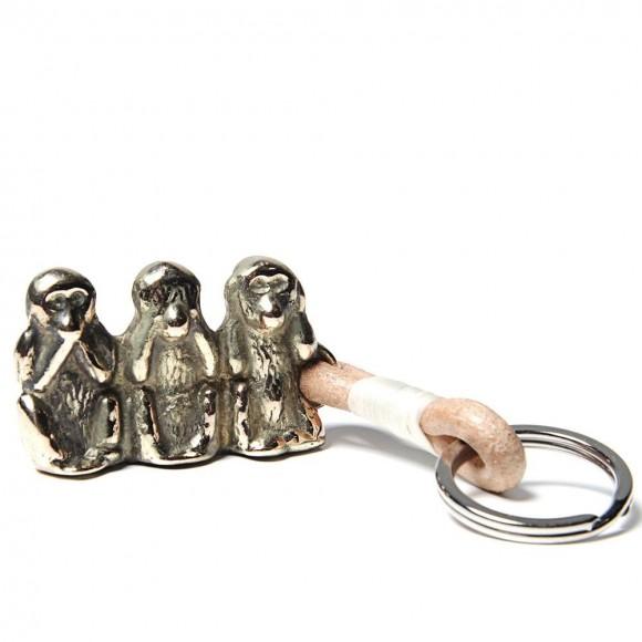 Speak No Evil brown monkey keyring 4