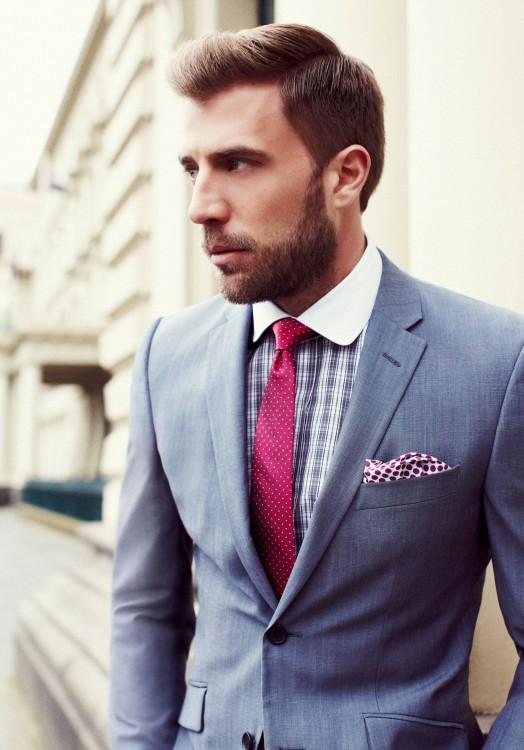 Zascha in Red Tie & Blue Suit
