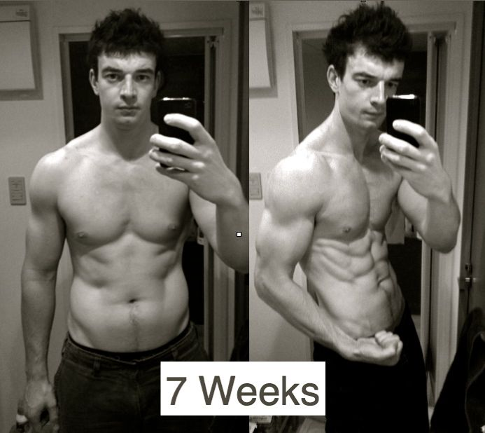 7 week six pack abs transformation