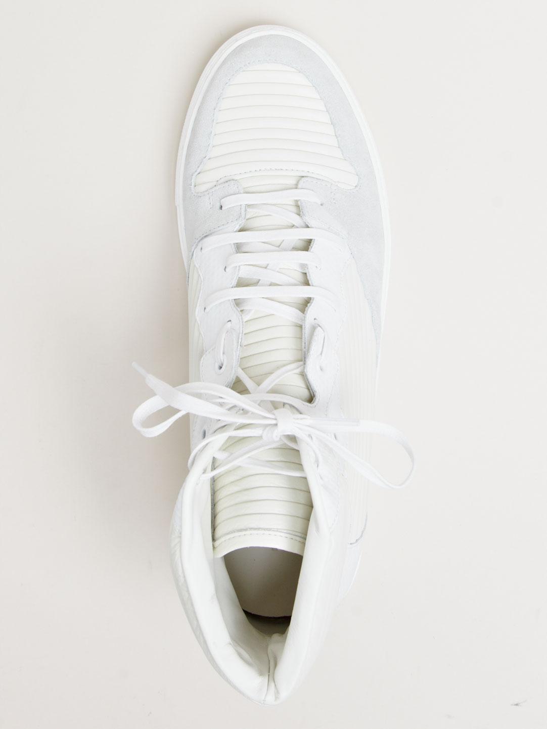 Balenciaga Hi-Top White Sneakers 3