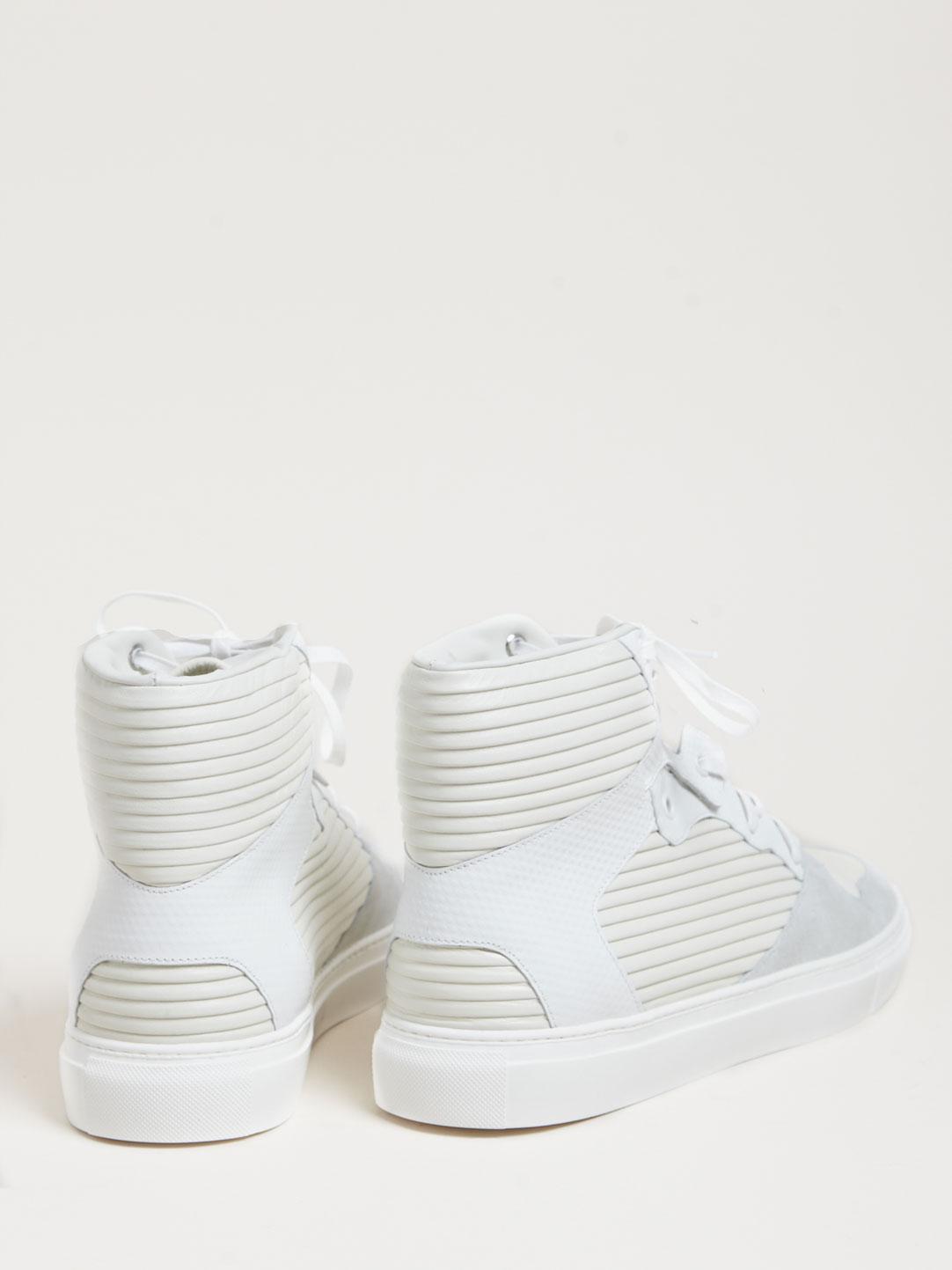 Balenciaga Hi-Top White Sneakers 4