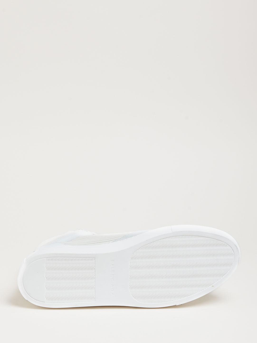 Balenciaga Hi-Top White Sneakers 5
