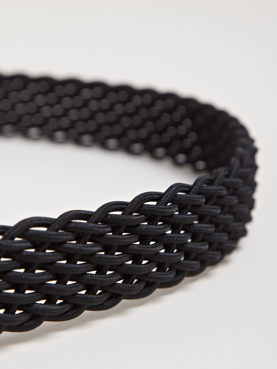 Black Elastic Rib Stitch Belt Yohji Yamamoto 4