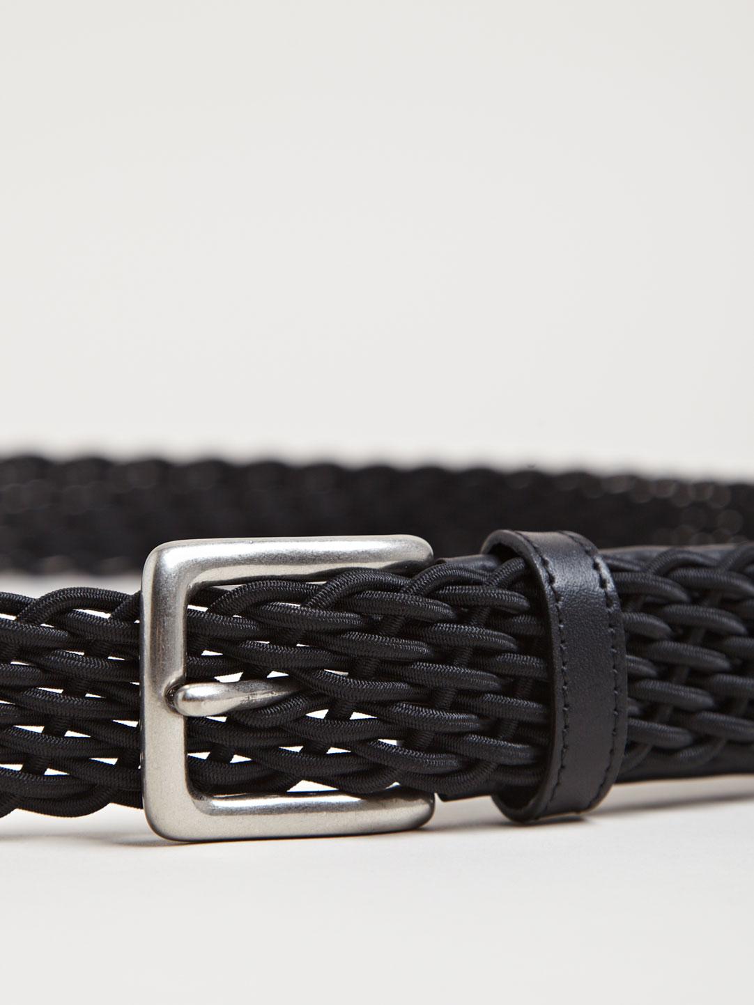 Black Elastic Rib Stitch Belt Yohji Yamamoto 6