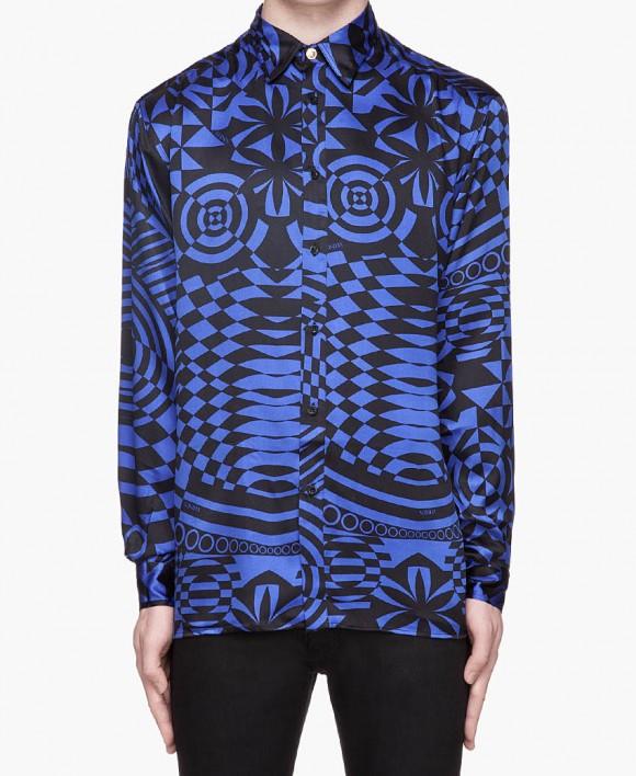 Blue Plaid Shirt Men