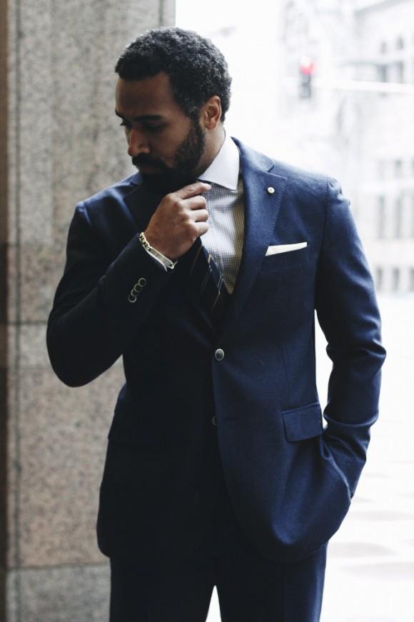 Blue Wool MElange Suit L.B.M 1911 1