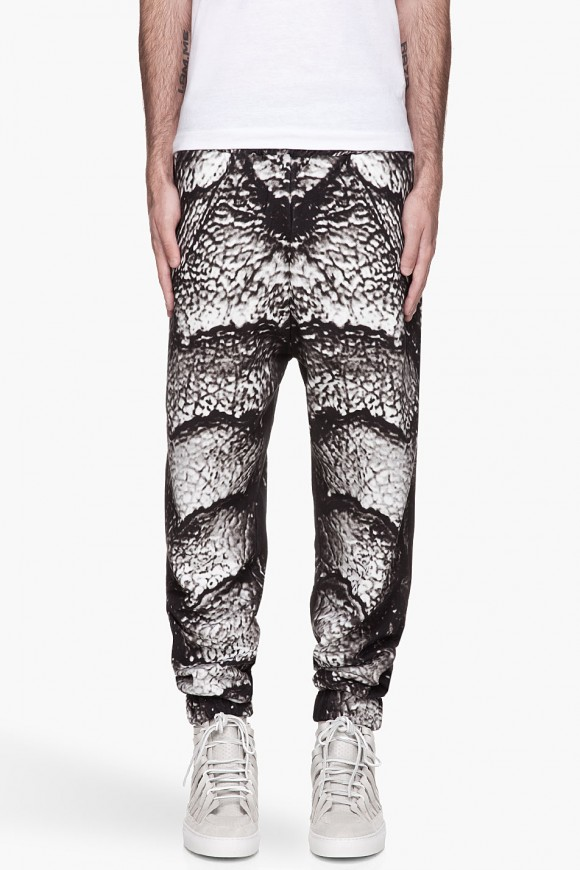 Creature Print Sweatpants Christopher Kane