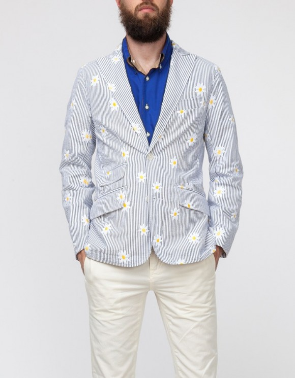 Daisy Print Seersucker Jacket, Mark McNairy