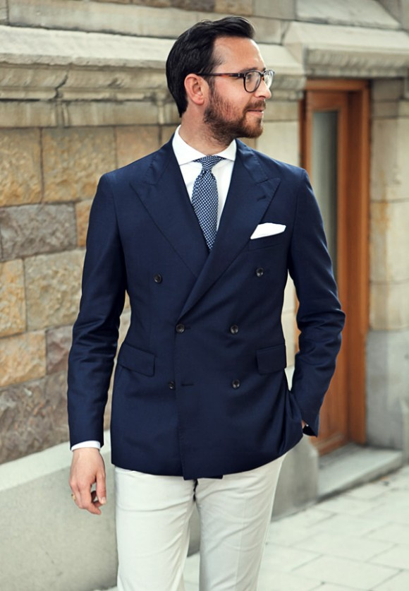 Half a Suit Double Breasted Navy