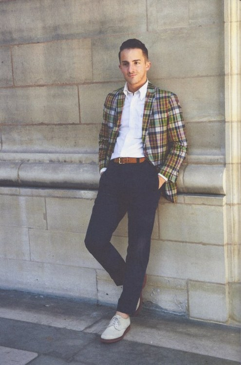 How to Wear a Madras Blazer