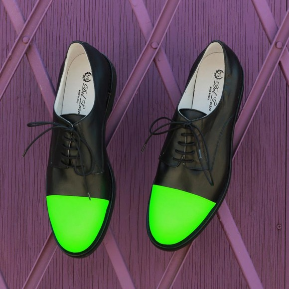 Kermit Green Cap Toe Shoes 1