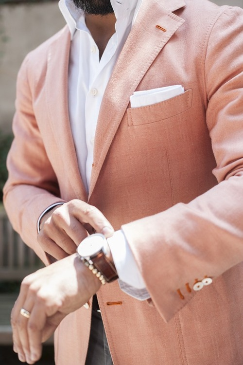 Light Salmon Blazer x Bracelet combo