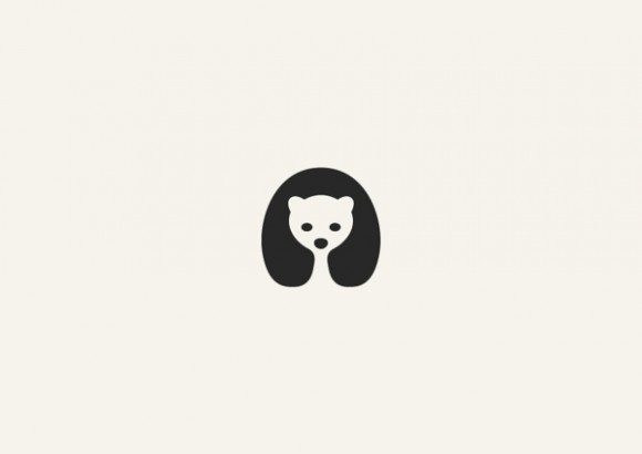 Minimalistic Animals Using Negative Space 1