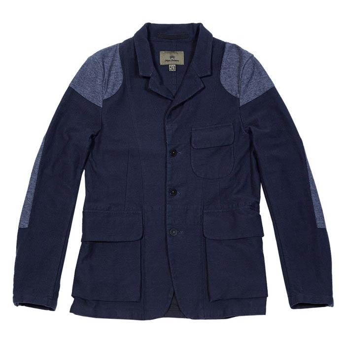 Navy Cotton Jacket Military