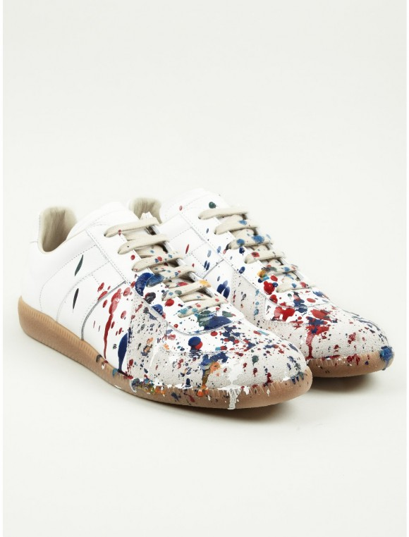 Paint Splatter on White Sneakers
