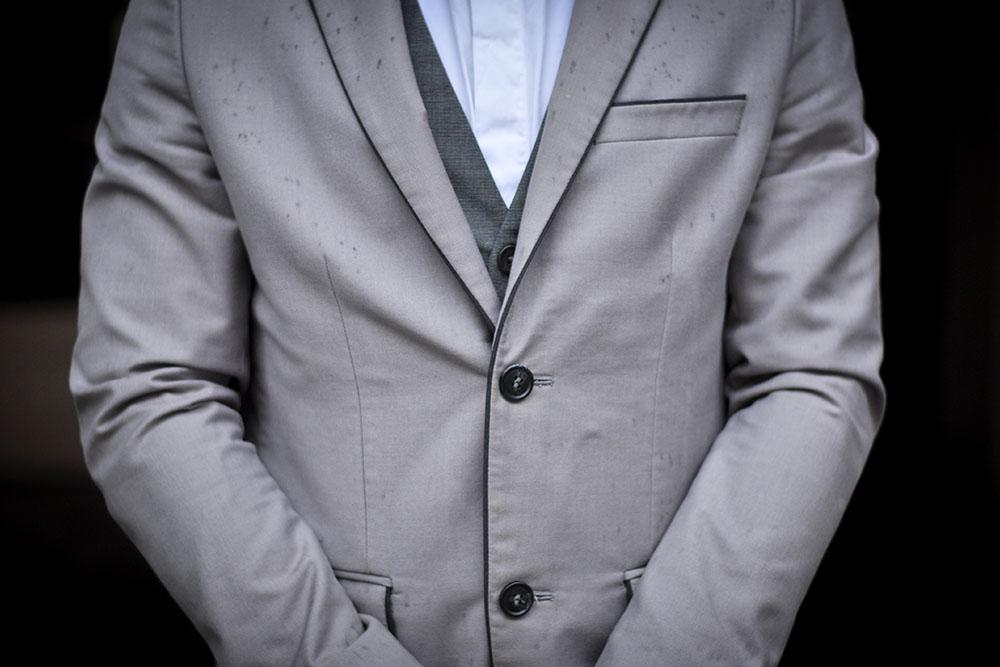Preppy Style Topman Jacket Grey