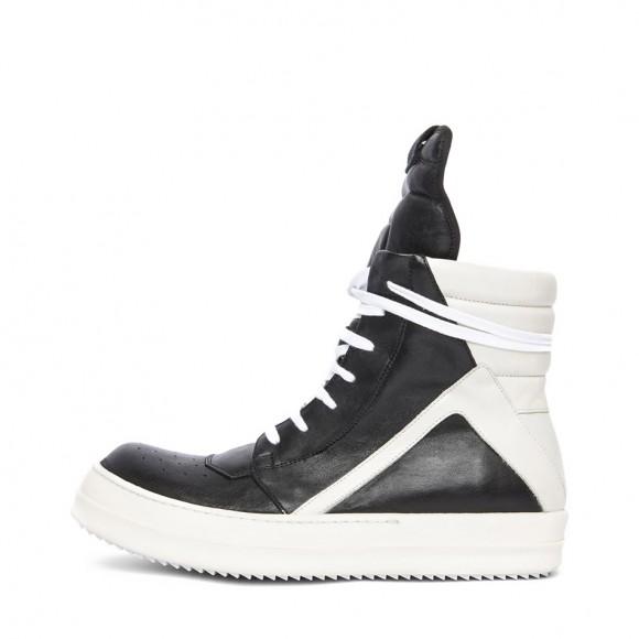 Rick Owens black leather sneakers Geobasket