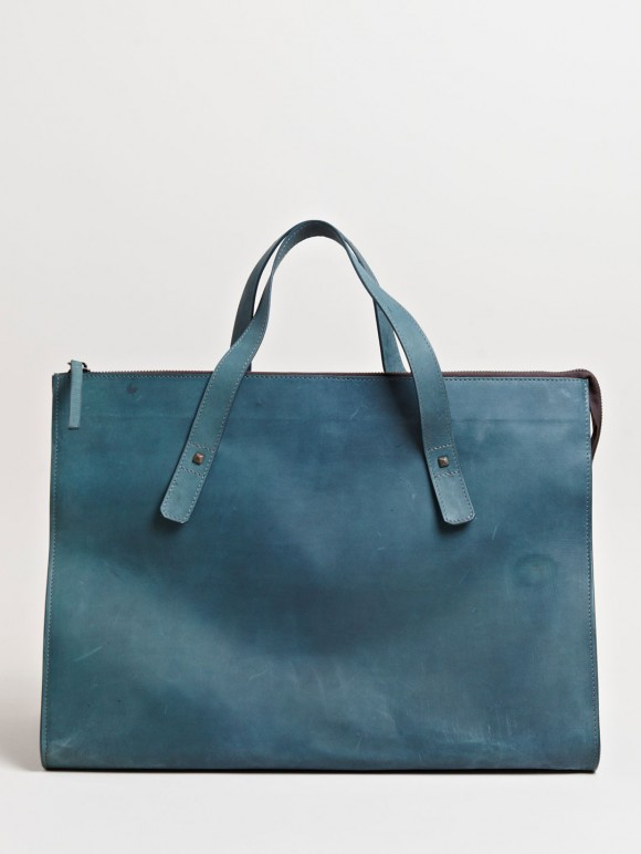 Sleek Petrol blue bag Cherevichkiotvichki Hide