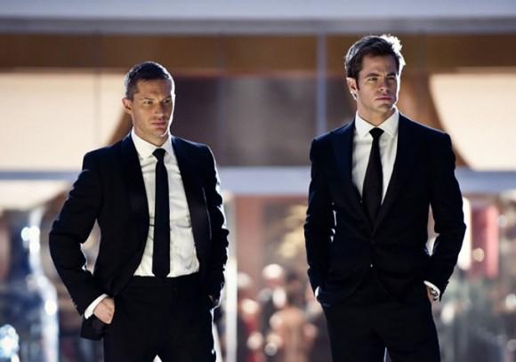 Tom Hardy & Chris Pine in suits n' tie