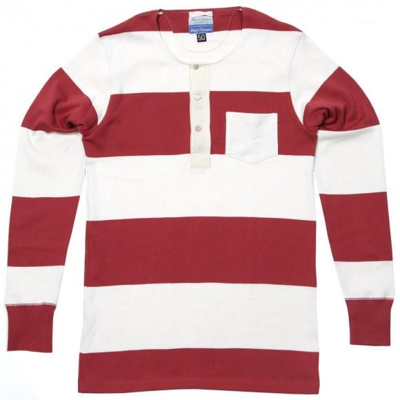Vintage Red Stripe Nigel Cabourn Grandad Jersey