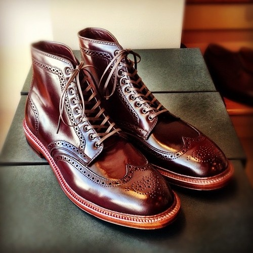 Alden Barrie Boot shiny wingtip