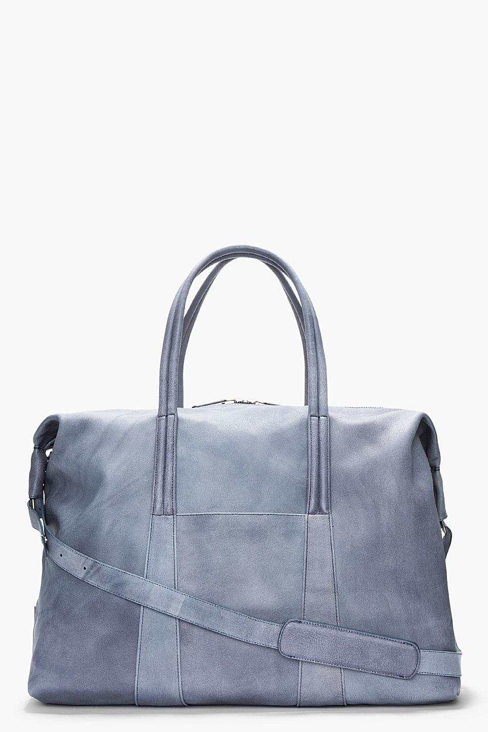 Camel Leather Duffle Slate Grey Maison Martin MArgiela 1