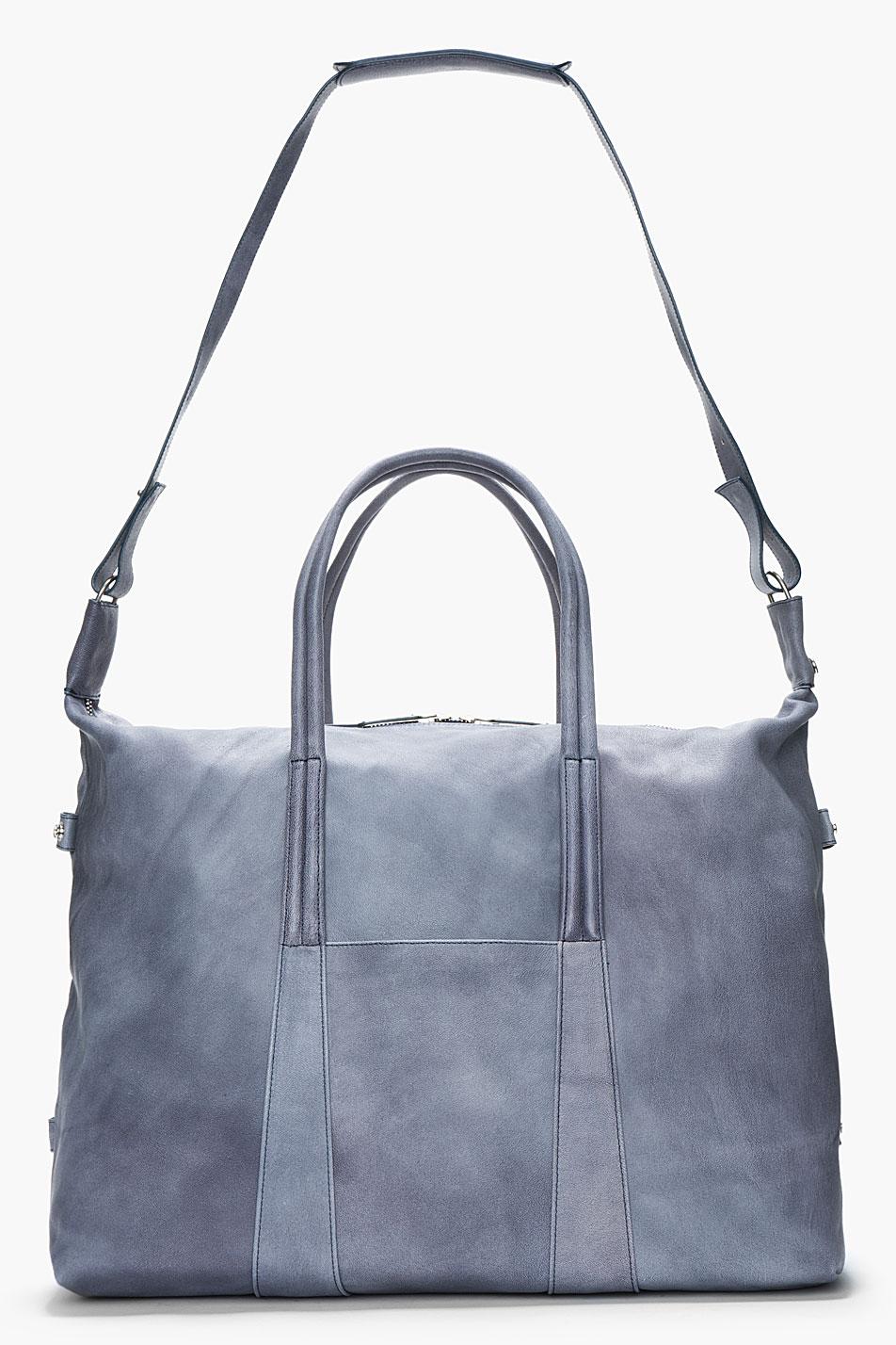 Camel Leather Duffle Slate Grey Maison Martin MArgiela 3