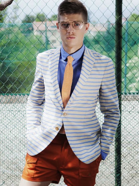 Camo SS13 Lookbook Horizontal Striped Blazer