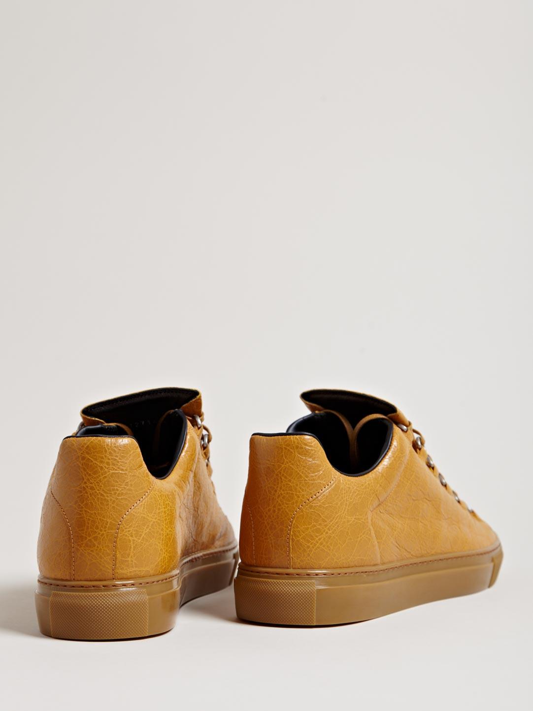 Caramel Balenciaga Arena Luxury Sneakers 2